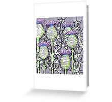 Inked Thistles Greeting Card