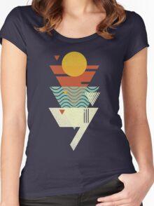 Sun. Sea. Sand. Shark. Women's Fitted Scoop T-Shirt