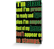 BLACK HEROES, NO STAMPS Greeting Card