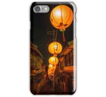 Lighting the back streets, Nagasaki Lantern Festival iPhone Case/Skin