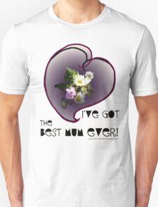 wildflower, Best Mum EVER! heart quirky T-Shirt