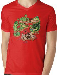 Super Mario World SNES Map Mens V-Neck T-Shirt