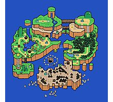 Super Mario World SNES Map Photographic Print