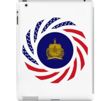 Vermont Murican Patriot Flag Series iPad Case/Skin