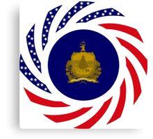 Vermont Murican Patriot Flag Series Canvas Print