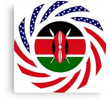 Kenyan American Multinational Patriot Flag Series Canvas Print