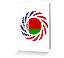 Belarusian American Multinational Patriot Flag Series Greeting Card