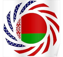 Belarusian American Multinational Patriot Flag Series Poster