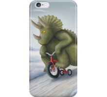 Triceratops on a Tricycle iPhone Case/Skin
