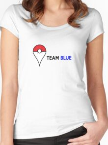 PokeGO Team Blue Women's Fitted Scoop T-Shirt