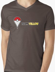 PokeGO Team Yellow Mens V-Neck T-Shirt