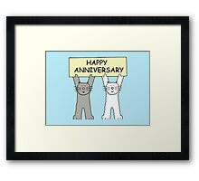 Cats Happy Anniversary Framed Print