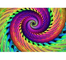 Rainbow swirl Photographic Print