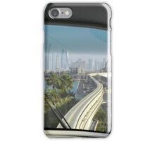 Dubai Palm Island seen from inside the train, United Arab Emirates. iPhone Case/Skin