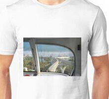 Dubai Palm Island seen from inside the train, United Arab Emirates. Unisex T-Shirt