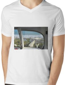 Dubai Palm Island seen from inside the train, United Arab Emirates. Mens V-Neck T-Shirt