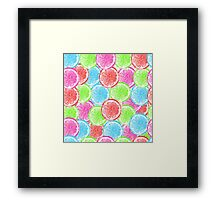 watercolor summer orange  Framed Print