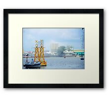 City In Fog Framed Print