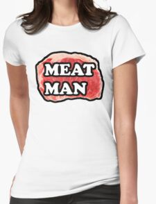 MEAT MAN FOOD SHIRT YES Womens Fitted T-Shirt