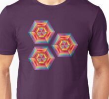 hypnotizing abstract hexagon patterns, vivid colors Unisex T-Shirt
