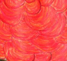 A Coral colored Zinnia Sticker