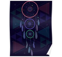 Psychedelic Dream Catcher Poster