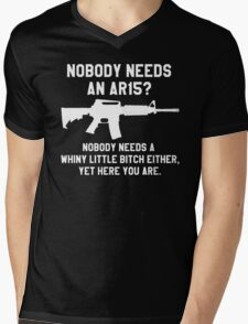 Nobody needs an AR 15 white design Mens V-Neck T-Shirt