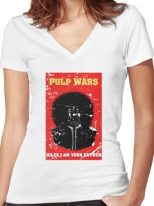 Pulp Wars Women's Fitted V-Neck T-Shirt