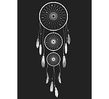 Silver Shaded Dream Catcher Photographic Print