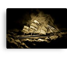 An old style digital painting of the Cutty Sark Canvas Print