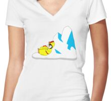 A Life Worth Living Women's Fitted V-Neck T-Shirt