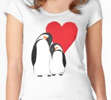 Penguin Partners - Vday edition 2 Women's Fitted Scoop T-Shirt