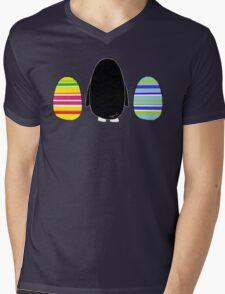 Penguins and Eggs Mens V-Neck T-Shirt