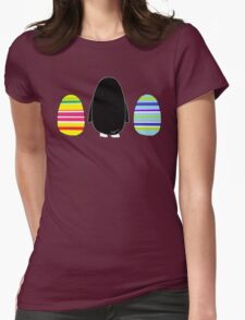 Penguins and Eggs Womens Fitted T-Shirt