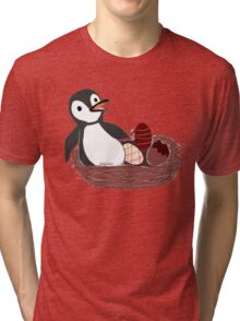 Pengy and the Chocolate Egg Tri-blend T-Shirt