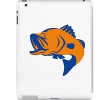 Barramundi Fish Jumping Retro iPad Case/Skin