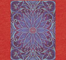 """""""Lavender lotus"""" floral arabesque pattern Tri-blend T-Shirt"""
