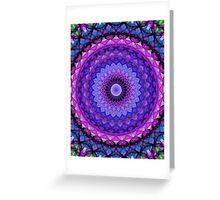 Mandala in blue and pink tones Greeting Card