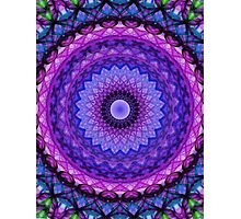 Mandala in blue and pink tones Photographic Print