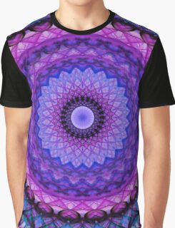 Mandala in blue and pink tones Graphic T-Shirt