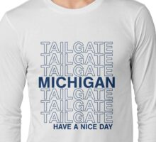 Blue Michigan Tailgate Long Sleeve T-Shirt