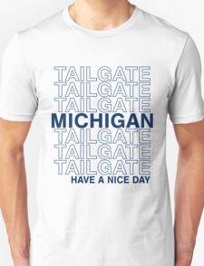 Blue Michigan Tailgate Unisex T-Shirt