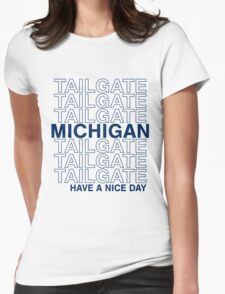 Blue Michigan Tailgate Womens Fitted T-Shirt