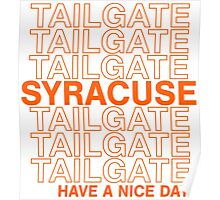 Syracuse Tailgate Poster