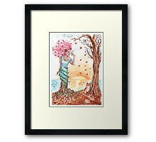 Blooming in the fall Framed Print