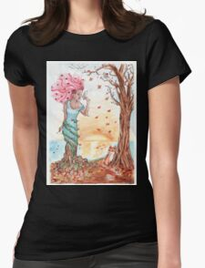 Blooming in the fall Womens Fitted T-Shirt