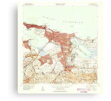 USGS TOPO Map Puerto Rico PR San Juan 362585 1949 30000 Canvas Print