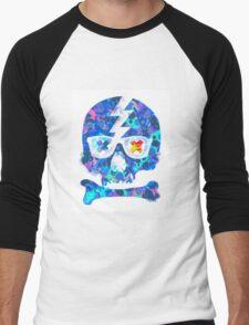 Psychedelic Skull by Pepe Psyche Men's Baseball ¾ T-Shirt