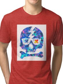 Psychedelic Skull by Pepe Psyche Tri-blend T-Shirt
