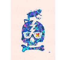 Psychedelic Skull by Pepe Psyche Photographic Print